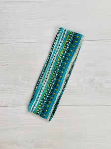 Teal and Black HeadBand