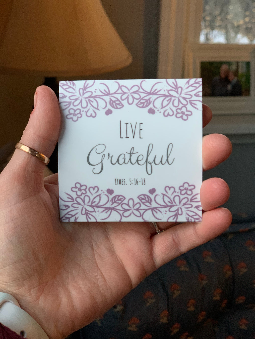 Live Grateful Sticker