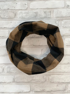 Black and Tan Flannel Scarf