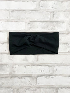 Black Faux Knot HeadBand