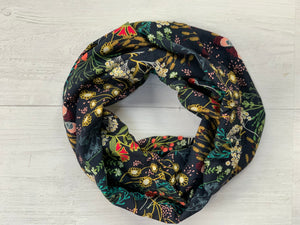 Floral Crepe Infinity Scarf