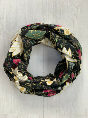 Winter Floral Infinity Scarf