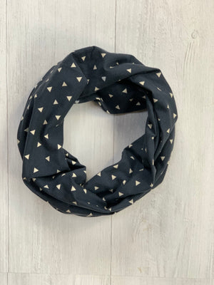 Navy and Cream Infinity Scarf