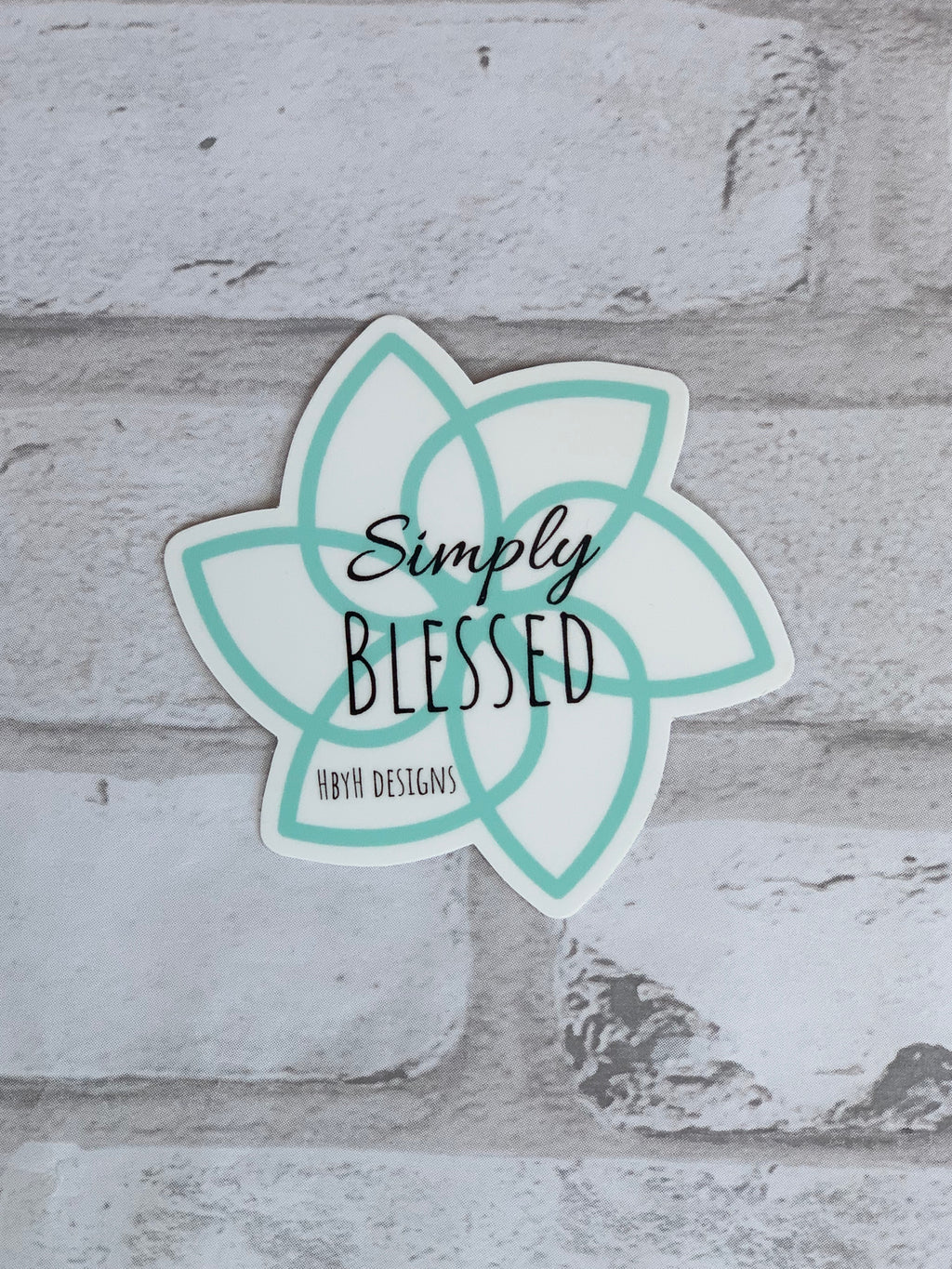 Simply Blessed Vinyl Sticker