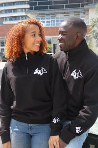 3D PUFF Embroidered KING Quarter Zip Sweaters