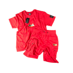 "Hybrid Garbs ""Gen 3""  - Red - T-Shirt/Shorts Combo Pack"