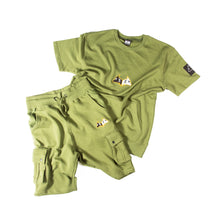 "Load image into Gallery viewer, Hybrid Garbs ""Gen 3""  - Olive - T-Shirt/Shorts Combo Pack"