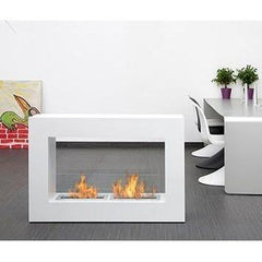 "Bio-Blaze Qube 47"" Large Portable Tabletop Freestanding Bio-Ethanol Fireplace BB-QL"