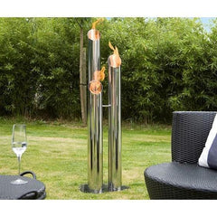 "Bio-Blaze Pipes 47.24"" (Large) Outdoor Bio-Ethanol Fireplace BB-PL"