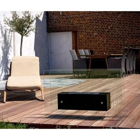 Bio Blaze Valetta Large High Glass Free Standing Ethanol Fireplaces - eFireplaceDirect.com