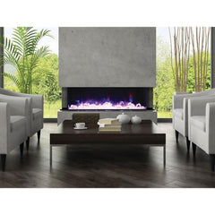 Amantii Tru View 3-Sided Built-In Electric Fireplace 72-TRU-VIEW-XL, 72""