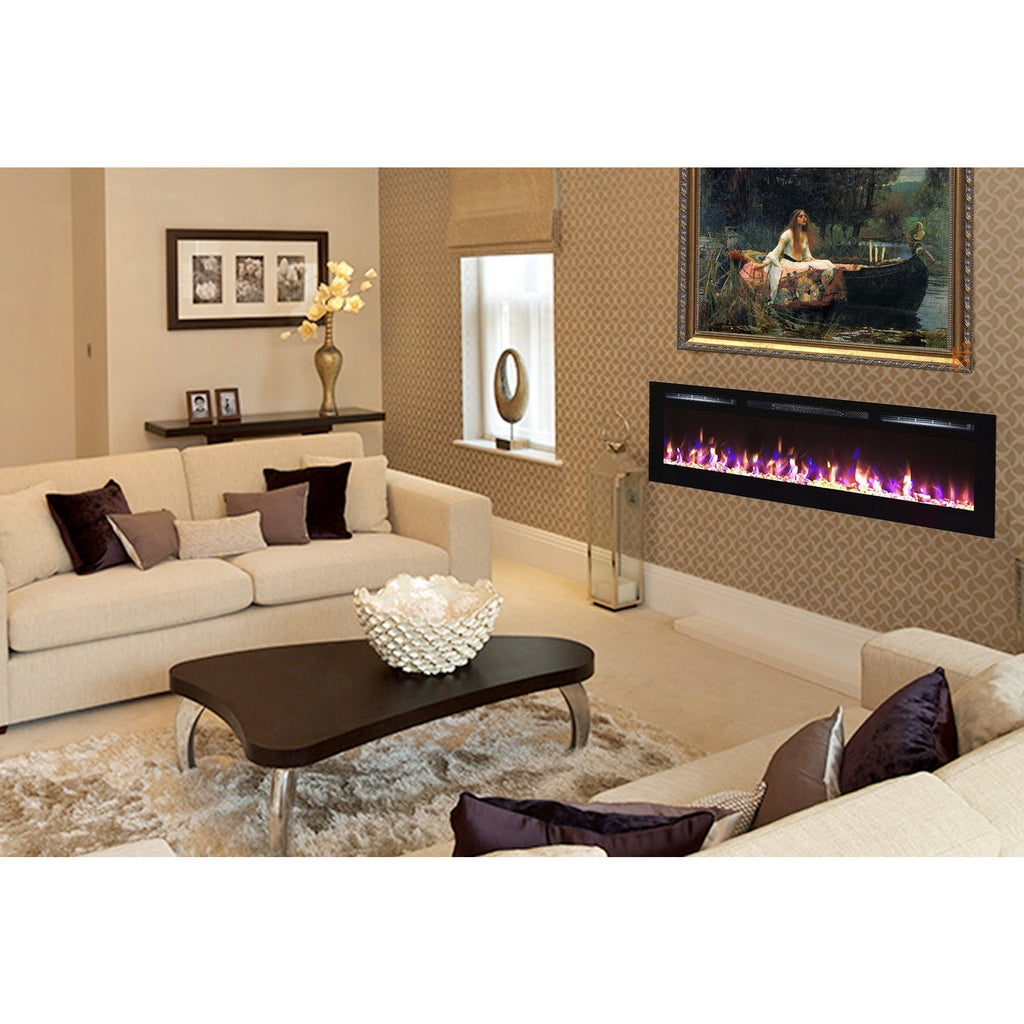 Touchstone Sideline® 100 Recessed Linear Electric Fireplace 80032, 100""