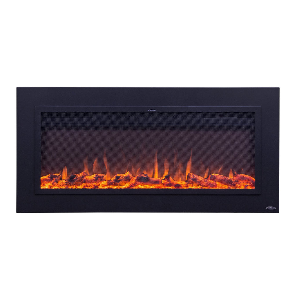 Touchstone Sideline® 50 Recessed Steel Electric Fireplace 80013, 50""