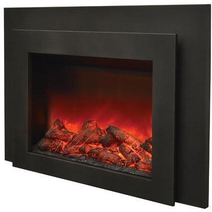 Sierra Flame Insert with Dual Steel Surround Electric Fireplace INS-FM-34