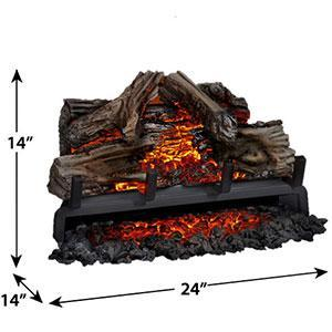 Napoleon Woodland™ Series Log Set Electric Fireplace Insert NEFI24H, 24""