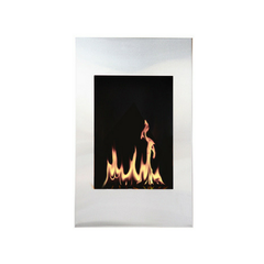 "The Bio Flame Xelo - 19"" W x 31"" H Wall Mounted Ethanol Fireplace"