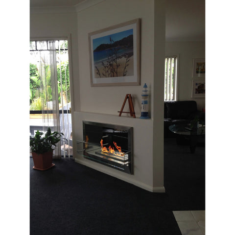 "The Bio Flame - 38"" Firebox DS Built-In-See-Through Ethanol Fireplace"