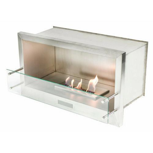 "The Bio Flame - 38"" Firebox SS Ethanol Fireplace"