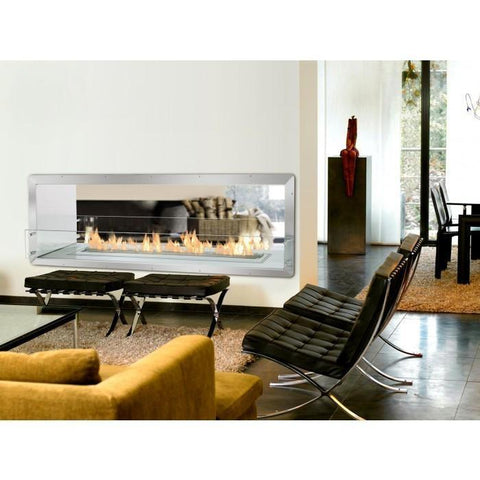 "The Bio Flame - 72"" Firebox DS Ethanol Fireplace"