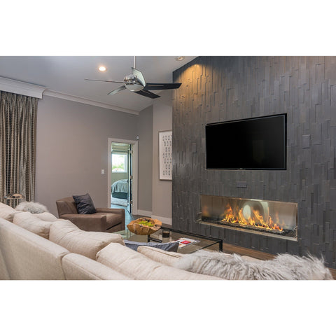 "The Bio Flame - 72"" Firebox SS Ethanol Fireplace"