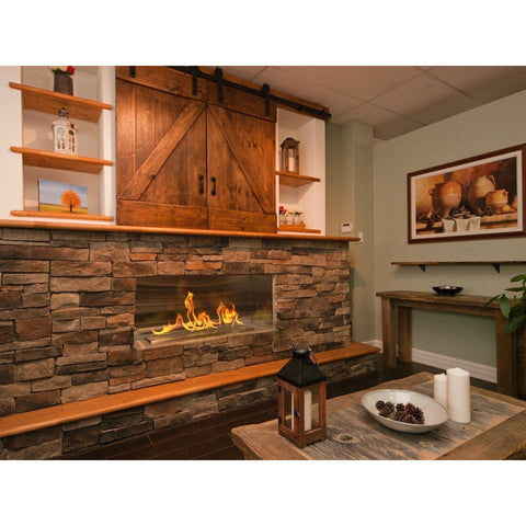 "The Bio Flame - 38"" XL Firebox SS Ethanol Fireplace"