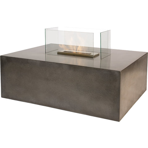 The Bio Flame Blocco - Free Standing Ethanol Fireplace with Concrete Base