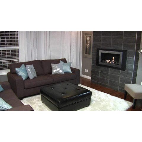 "The Bio Flame Lorenzo - 45"" Built-in Wall Mounted Ethanol Fireplace"