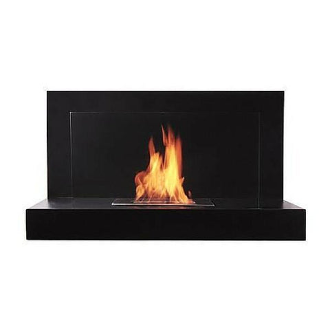 "The Bio Flame Lotte - 35"" Black Wall Mounted Ethanol Fireplace"
