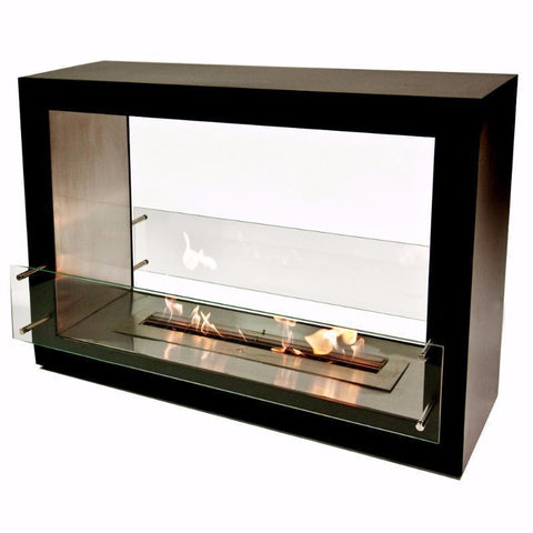 "The Bio Flame Sek XL - 53"" Free Standing See-Through Ethanol Fireplace"