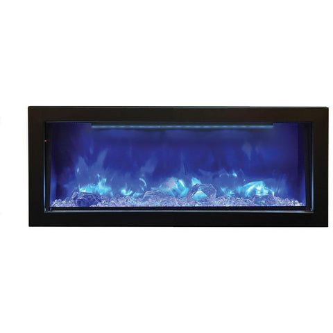 Amantii Deep Panorama Black Steel Surround Electric Fireplace BI-40-DEEP, 40""