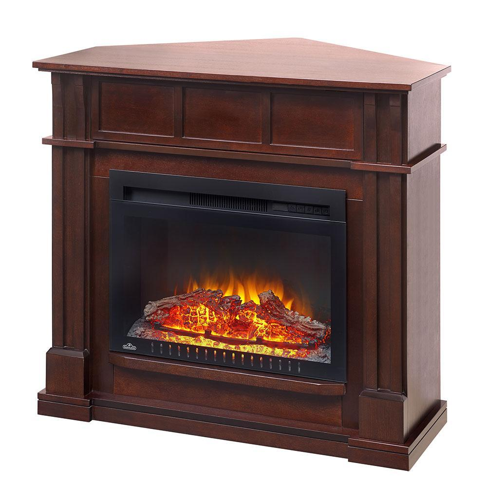 Napoleon Bailey Essential Series Electric Fireplace Package with Cinema™ 24-Inch Electric Fireplace with Traditional-Style Wall/Corner Mantel, NEFCP24-0116E