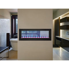 Image of Napoleon CLEARion™ Built-In Two-Sided See-Through Electric Fireplace with Black Surround NEFBD50H, 50""
