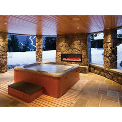Amantii Panorama Black Steel Surround Slim Electric Fireplace BI-40-SLIM, 38.62