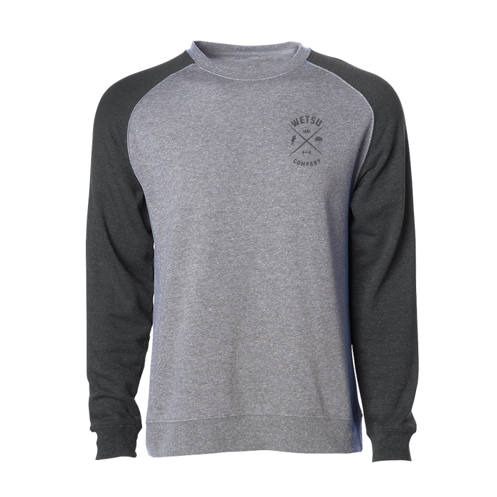 Airborne Kings and Queens Grey/Black Raglan Crewneck