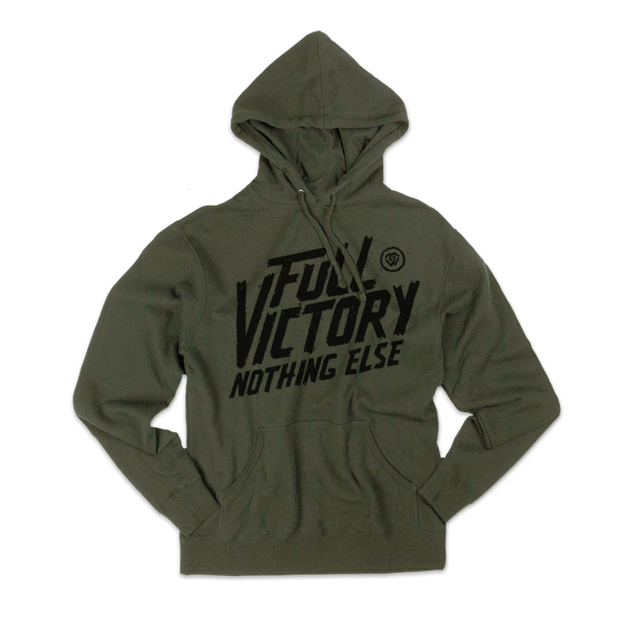 Full Victory Military Green Hoodie