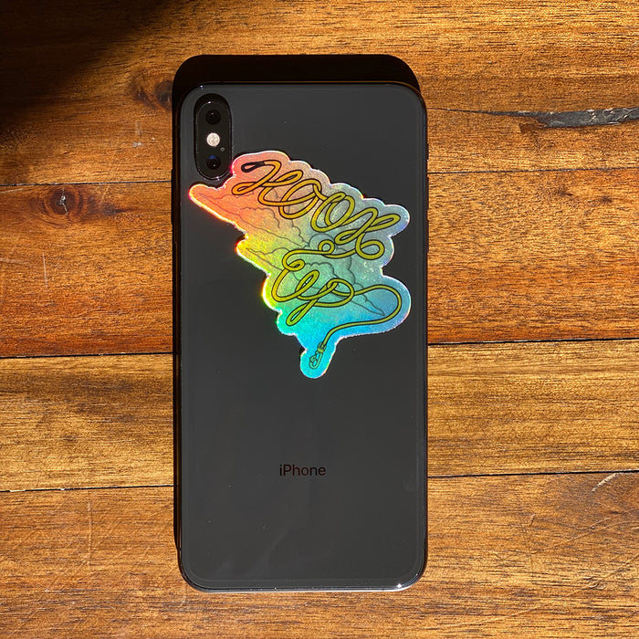 Hook Up Holographic Mini Sticker