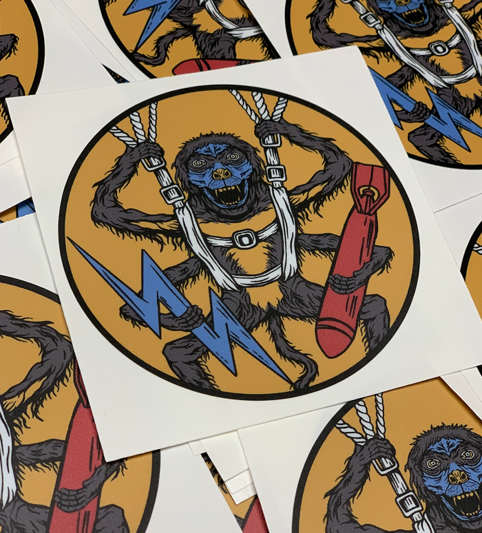 507th Spider Monkey Remastered Premium Sticker