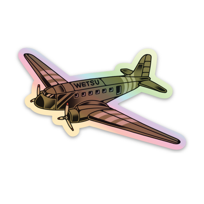 WETSU C47 Holographic Mini Sticker