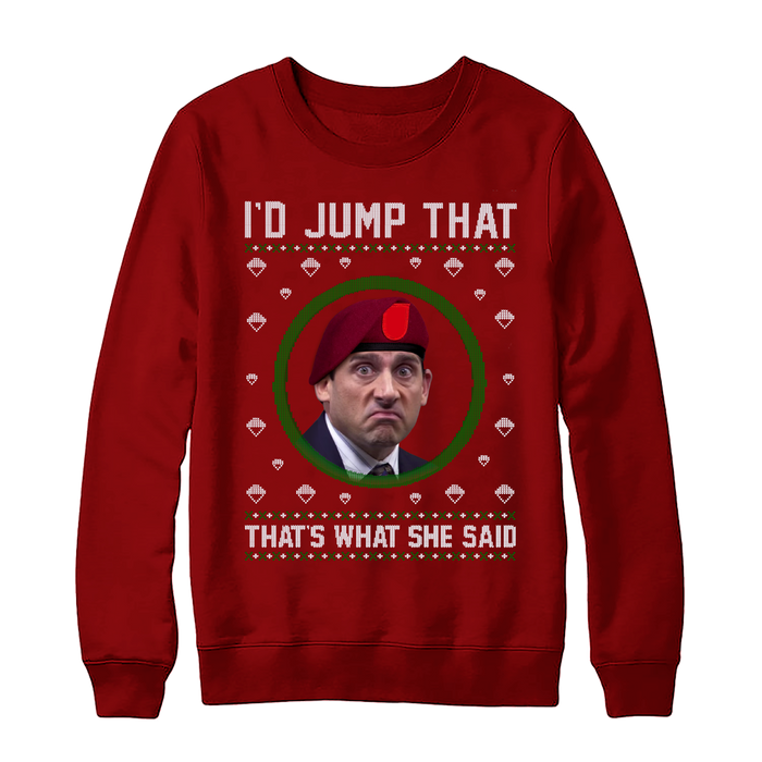"Para Mike ""Thats What She Said"" Christmas Sweater"