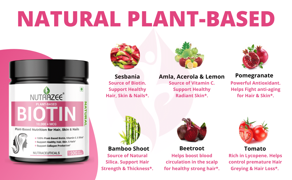 biotin nutrazee ingredients plant based vegan supplement India online