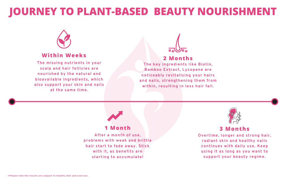 biotin supplement nutrazee plant based journey beauty supplement