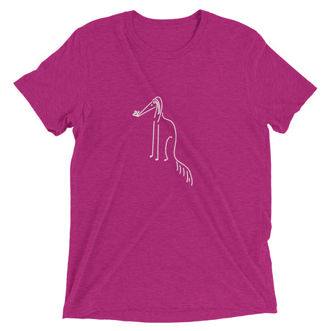Saluki with Butterfly Short sleeve t-shirt