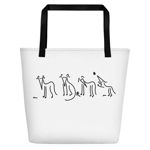 Whippet Family Large Bag