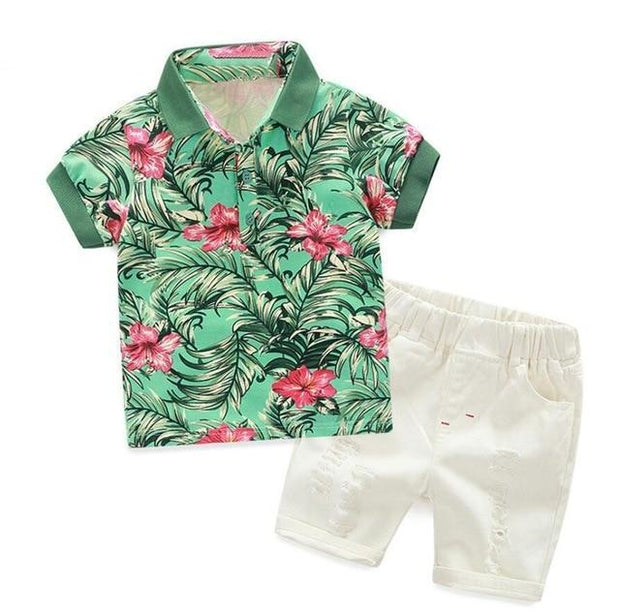 Wyatt-Boy's Shirt & Short Set