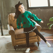 Kathleen-Girl Skirted Leggings & Long Sleeve Top