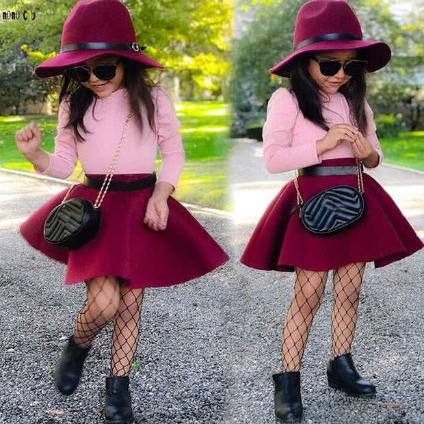 Zuri-2 Piece Skirt & Long Sleeve Shirt