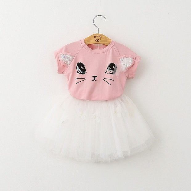 Caroline-2 Piece Top & Tutu Skirt