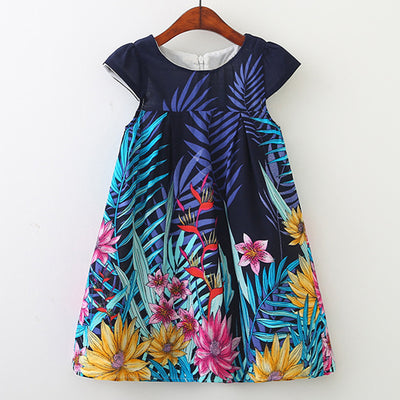 Charlotte-Cap Sleeve Spring Time Mini Dress
