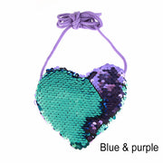 Sequins Hearts and Mermaid  Purse
