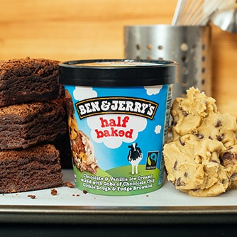 Ben & Jerry's Half Baked ice cream (465ml)